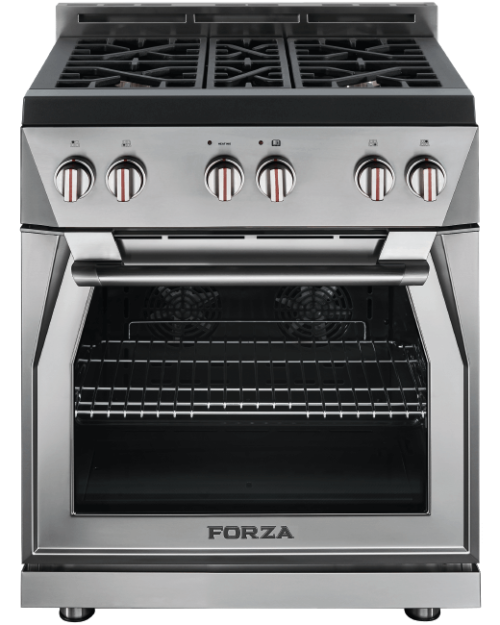forza gas range 30 inch stainless steel