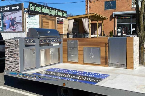 outdoor kitchen mobile display